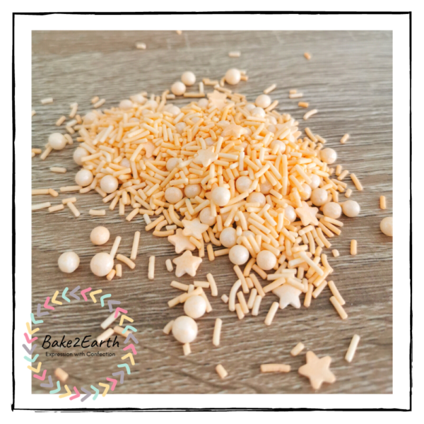 One Colour Mixed Sprinkles - Apricot