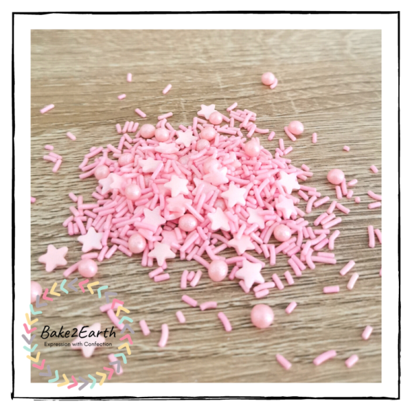 One Colour Mixed Sprinkles - Baby Pink