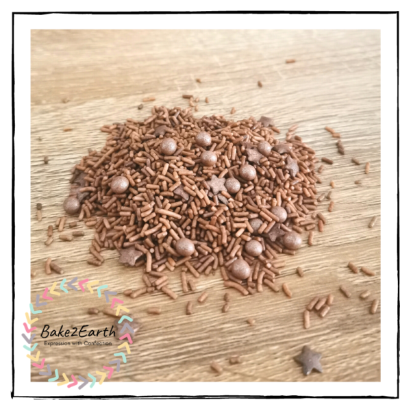 One Colour Mixed Sprinkles - Brown