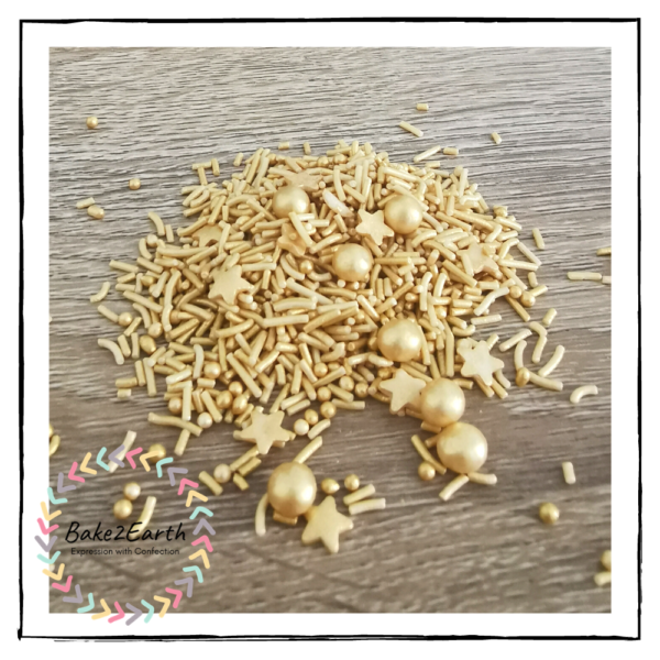 One Colour Mixed Sprinkles - Gold