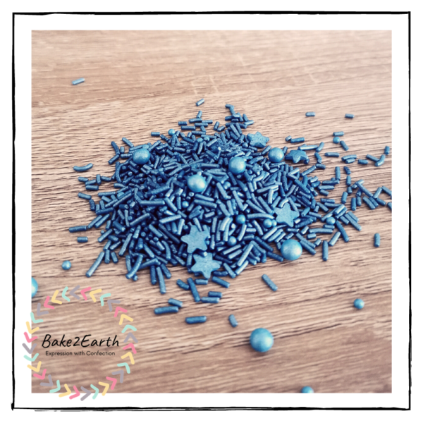 One Colour Mixed Sprinkles - Royal Navy