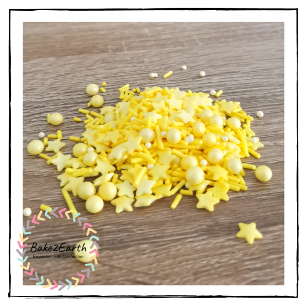 One Colour Mixed Sprinkles - Yellow